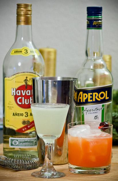 Daiquiri und Aperol Sour