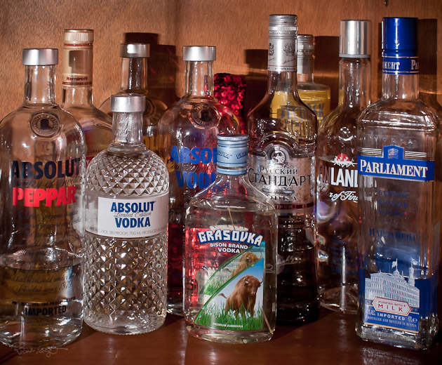 eine kleine Vodkaauswahl